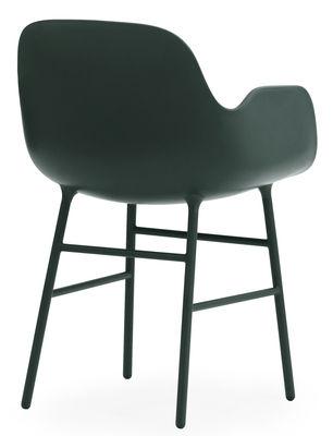 fauteuil form pied m tal vert normann copenhagen. Black Bedroom Furniture Sets. Home Design Ideas