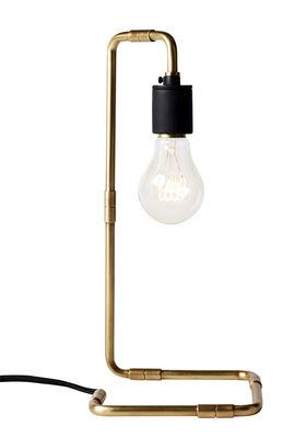 Luminaire - Lampes de table - Lampe de table Reade / H 34 cm - Menu - Laiton - Laiton, Porcelaine