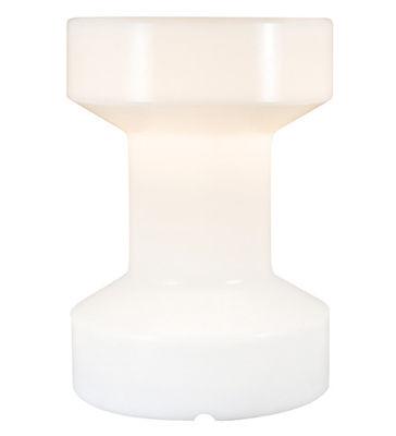 Foto Sgabello luminoso - luminoso/Senza fili ricaricabile - H 55 cm di Bloom! - Bianco - Materiale plastico