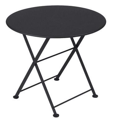 Tavolino Tom Pouce - / Ø 55 cm di Fermob - Carbone - Metallo