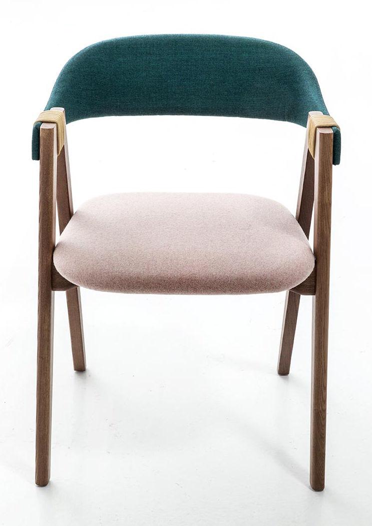 fauteuil rembourr mathilda tissu bois turquoise rose p le fr ne teint moroso. Black Bedroom Furniture Sets. Home Design Ideas