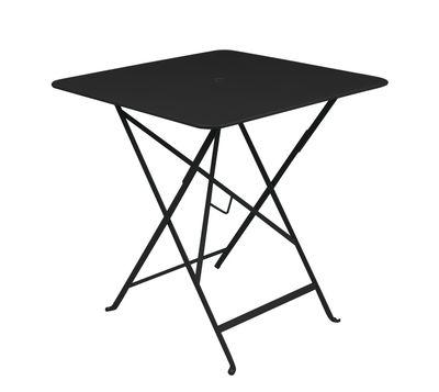 Table pliante Bistro 71 x 71 cm Trou pour parasol Fermob réglisse en métal