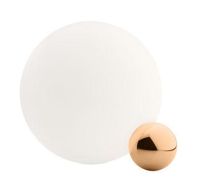 Lampe de table Copycat LED / Ø 30 cm - Flos blanc,cuivre en métal