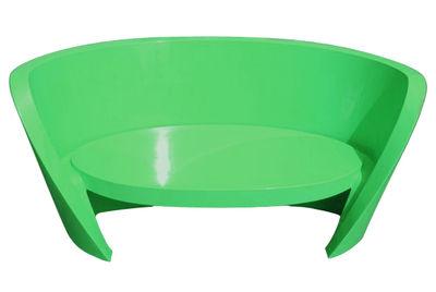 Sofà Rap - versione laccata di Slide - Verde laccato - Materiale plastico