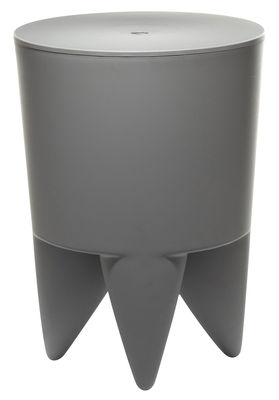 Mobilier - Mobilier Ados - Tabouret New Bubu 1er / Coffre - Plastique - XO - Gris souris - Polypropylène