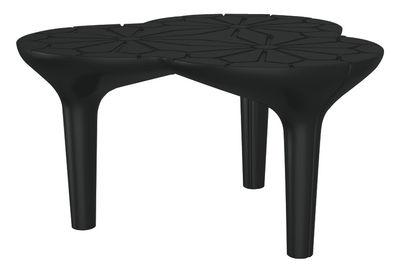 Tavolino Altesse - 75 x 72 cm di Qui est Paul ? - Nero - Materiale plastico
