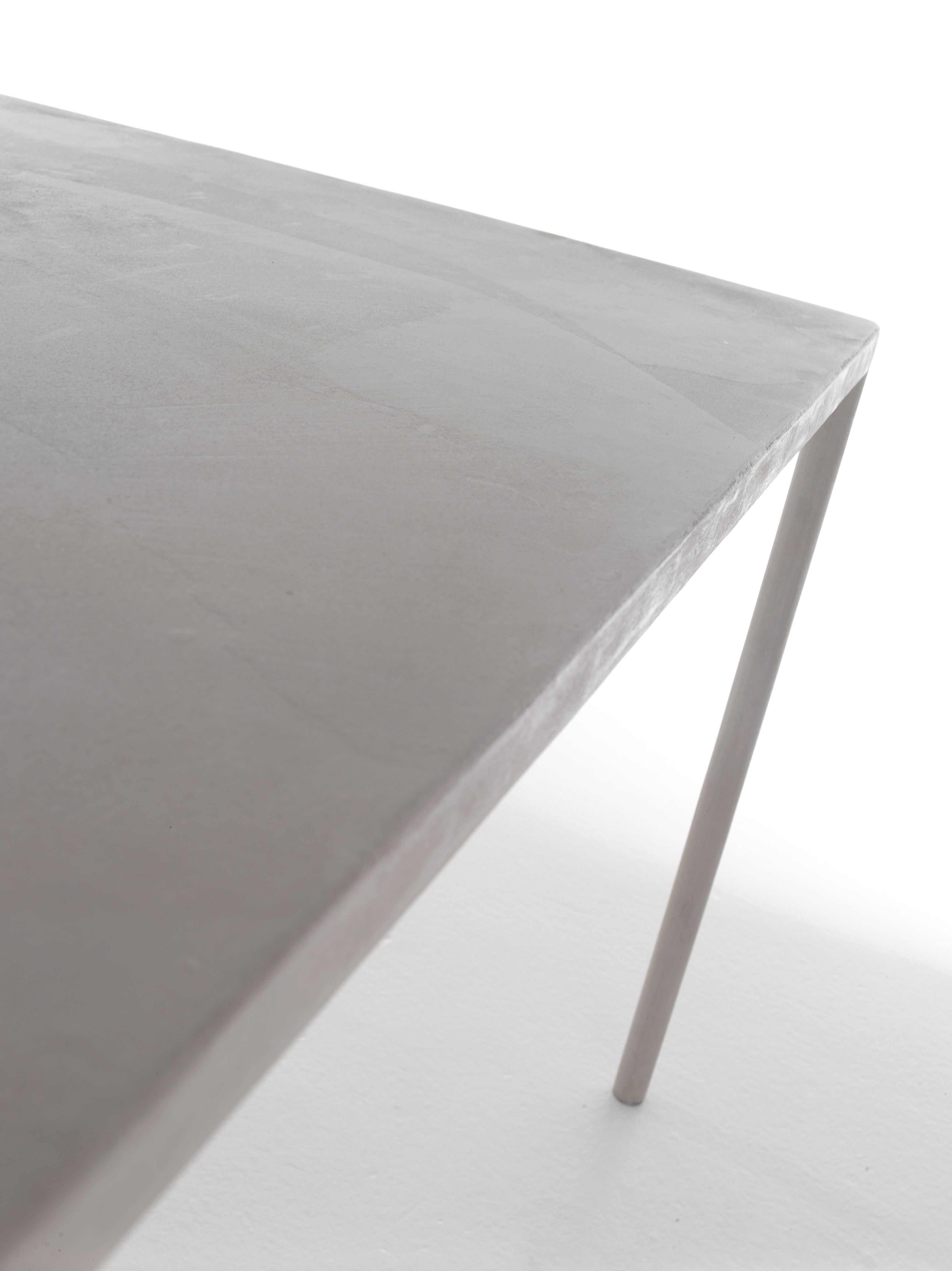 Robin Table 100 x 220 Grey concrete by MDF Italia