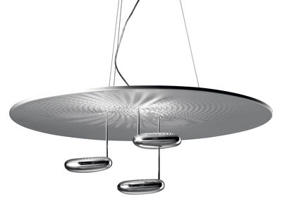 Luminaire - Suspensions - Suspension Droplet / LED - Ø 100 cm - Artemide - Chromé - LED - Aluminium chromé, Aluminium satiné