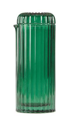 Arts de la table - Carafes et décanteurs - Carafe Saguaro / Avec couvercle - 1,3 L - Doiy - Vert - Verre teinté