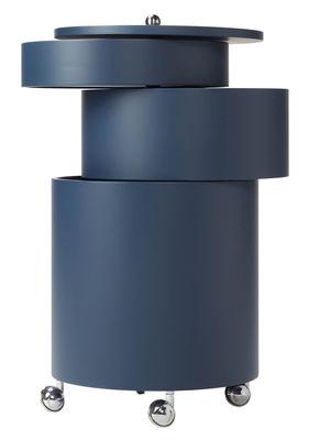 Desserte Barboy / Panton 1963 - Verpan bleu en bois