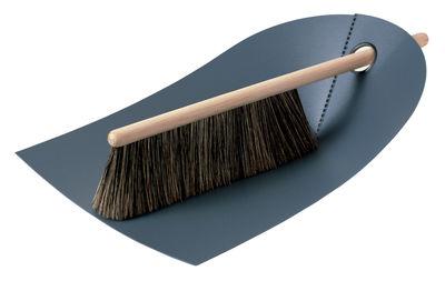 Set pelle & balayette Dustpan & broom - Normann Copenhagen gris foncé en matière plastique