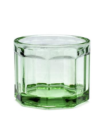 Verre Fish & Fish Small / 16 cl - Serax vert transparent en verre