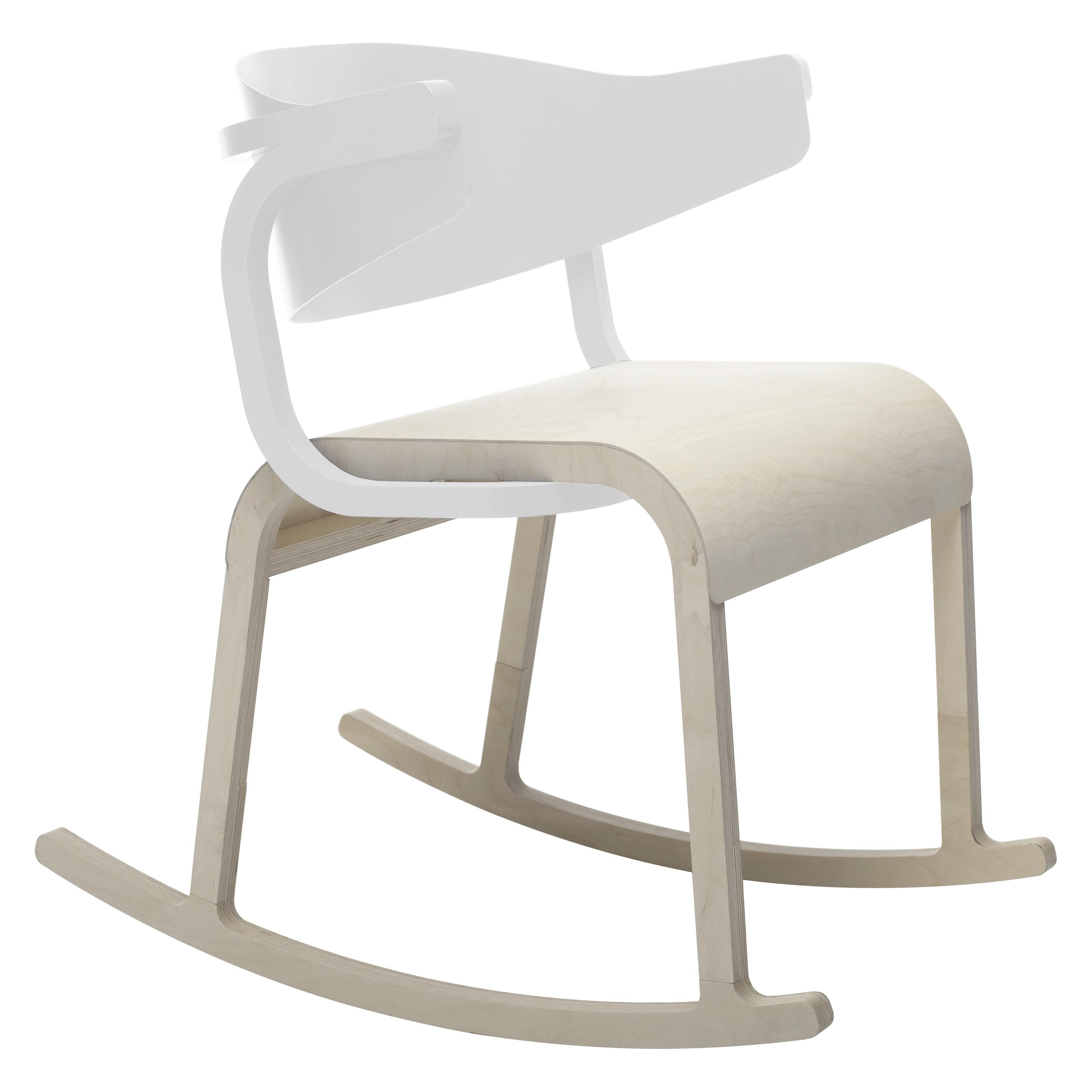 rocking chair perch blanc sp cimen editions. Black Bedroom Furniture Sets. Home Design Ideas