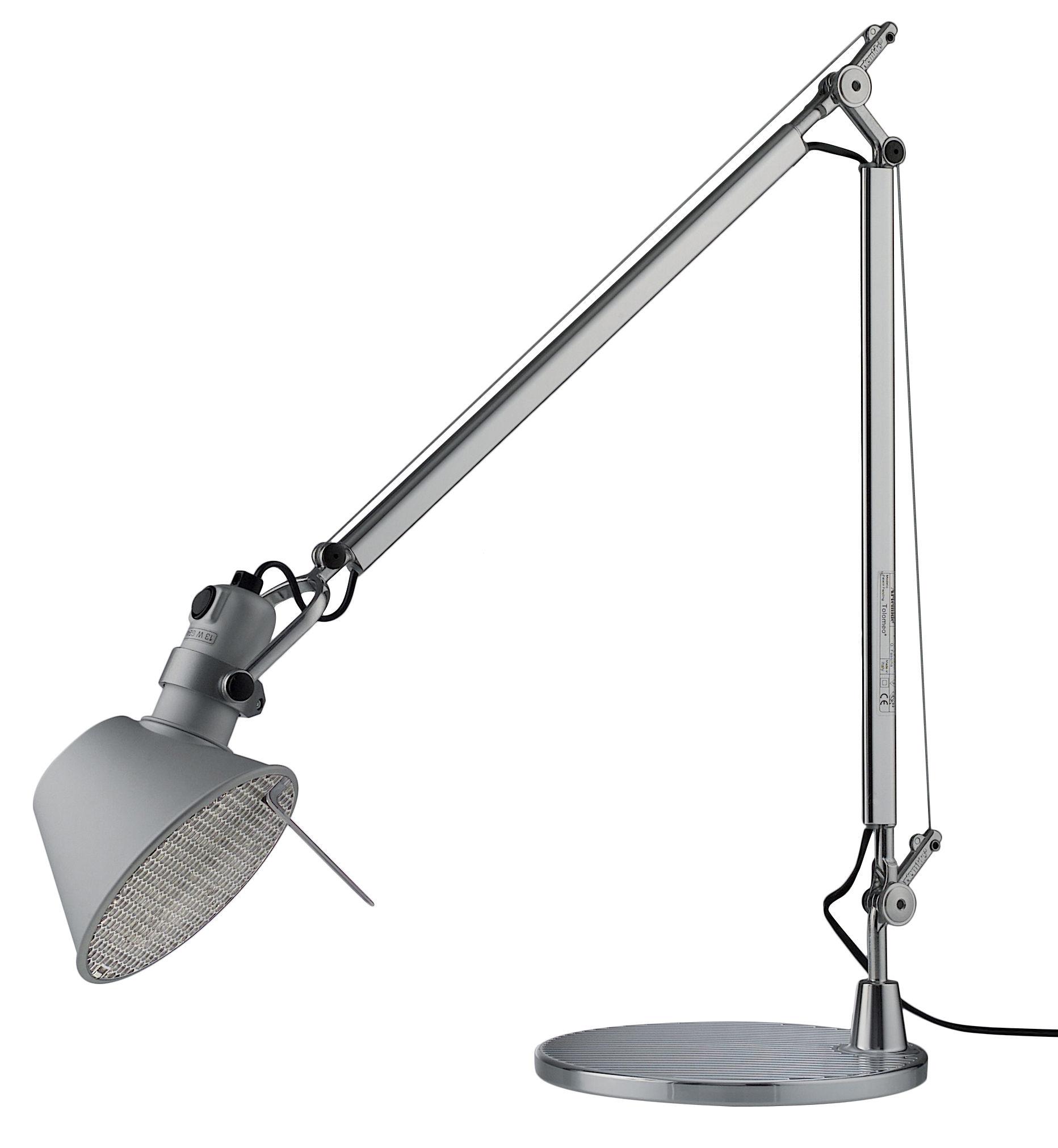 lampe de table tolomeo fluo aluminium fluorescente artemide. Black Bedroom Furniture Sets. Home Design Ideas