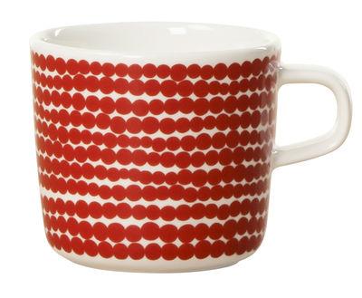 Tasse à café Räsymatto - Marimekko rouge en céramique