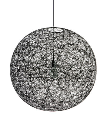 Suspension Random Light LED / Medium - Ø 80 cm - Moooi noir en matière plastique