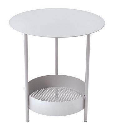 Foto Tavolino con piede centrale Salsa / Ø 50 x H 50 cm - Fermob - Beige cotone - Metallo Tavolino rotondo