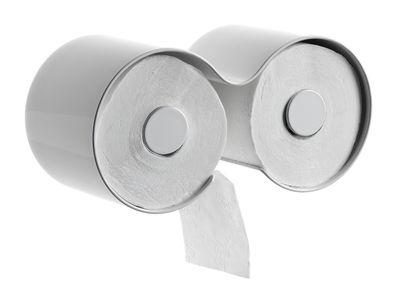 D rouleur de papier toilette kali blanc authentics - Derouleur papier toilette design ...