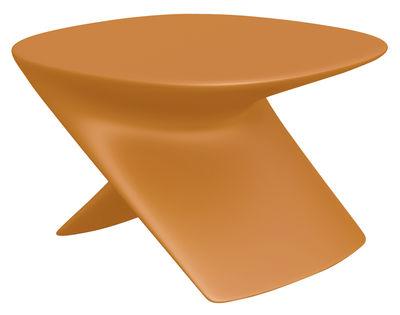 Foto Tavolino Ublo - Pouf di Qui est Paul ? - Arancione - Materiale plastico