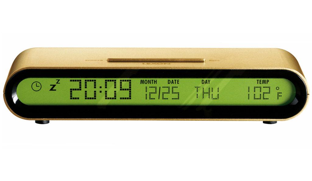 Jet Alarm Clock Gold By Lexon