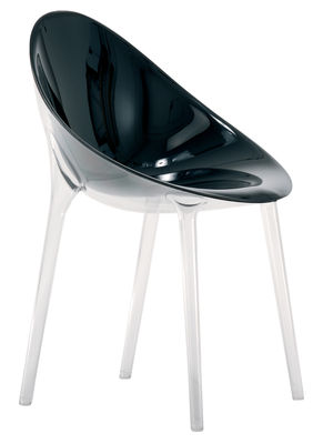 Chaise Mr. Impossible opaque / Polycarbonate - Kartell noir opaque en matière plastique