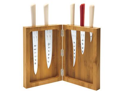 Bloc à couteaux K-block / Bambou - Alessi bambou en bois