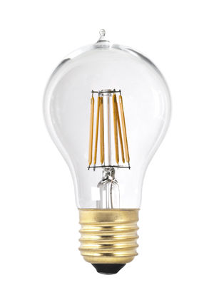 Ampoule LED filaments E27 A19 / 6W (60W) - Pop Corn or,transparent en verre