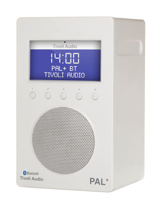 Radio Pal BT Enceinte portative Bluetooth Tuner digital Tivoli Audio blanc en matière plastique