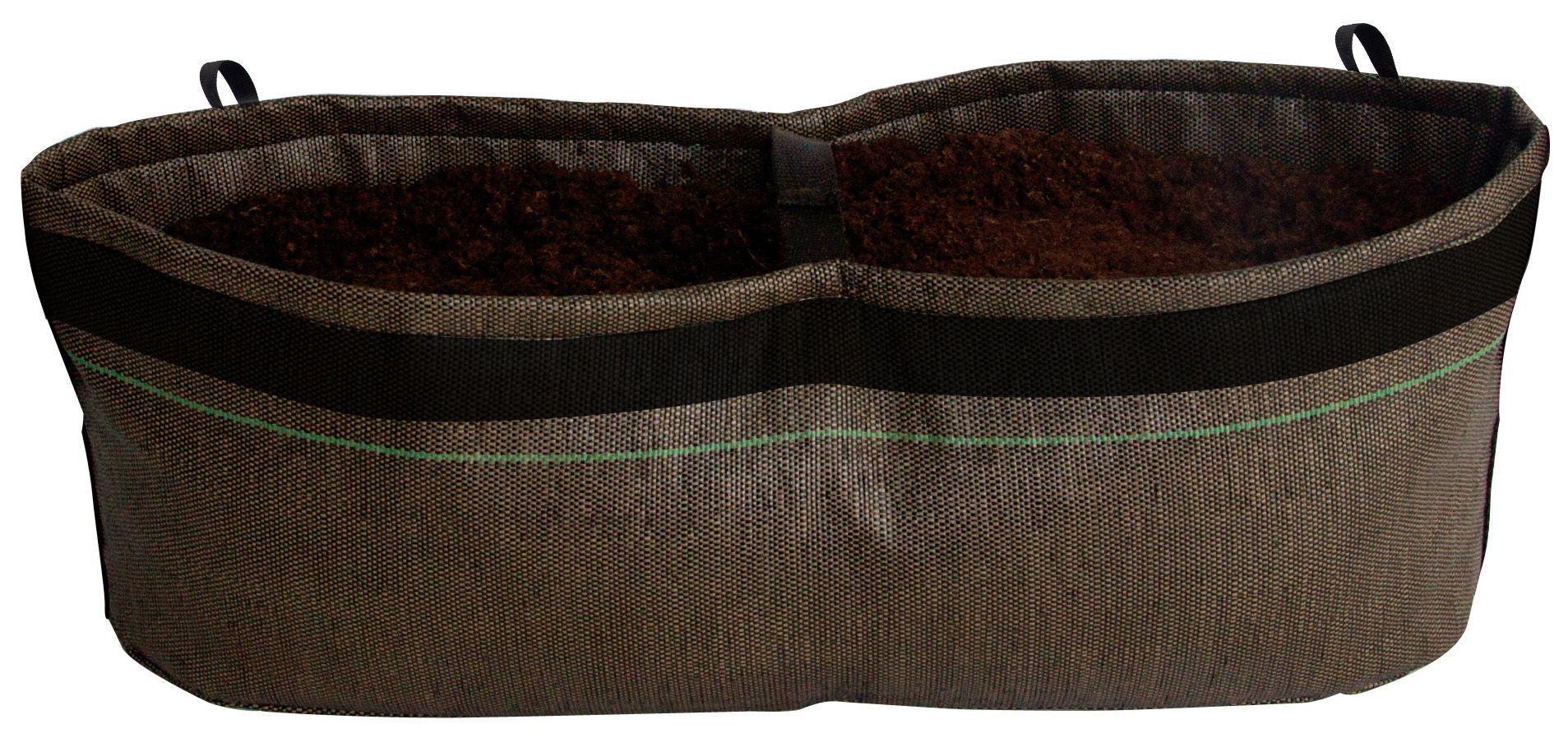 jardini re geotextile outdoor 14 litres 14 litres marron bacsac. Black Bedroom Furniture Sets. Home Design Ideas