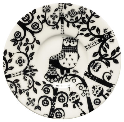 Arts de la table - Tasses et mugs - Soucoupe Taika / Pour tasse à espresso Taika - Iittala - Noir - Porcelaine