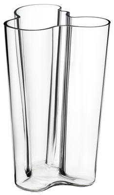 Decoration - Vases - Aalto Vase by Iittala - Transparent - Mouth blown glass