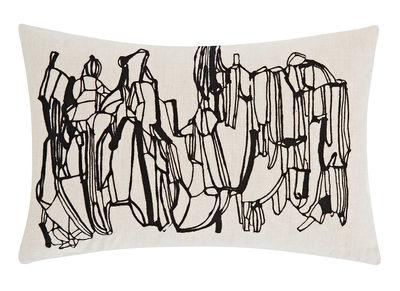 Coussin Geo / 40 × 60 cm - Edition limitée - Tom Dixon noir,blanc cassé en tissu
