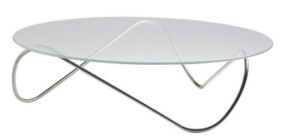 Tavolino Kaeko di Objekto - Acciaio,Trasparente - Metallo
