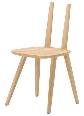 Mobilier - Chaises, fauteuils de salle à manger - Chaise Tabu Naked Wood - Alias - Frêne - Frêne massif