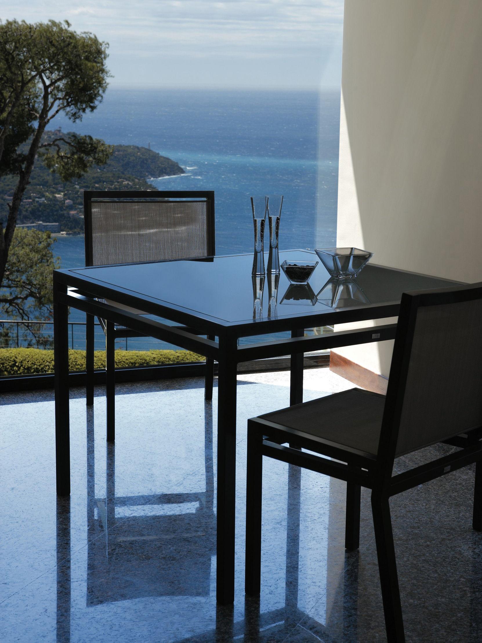 table de jardin kare free original 100 x 100 cm structure weng plateau verre blanc sifas. Black Bedroom Furniture Sets. Home Design Ideas