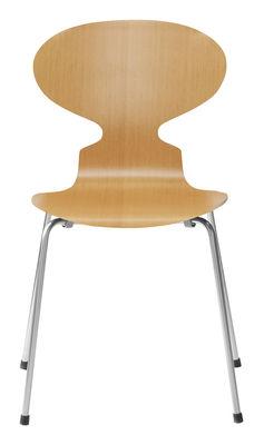Chaise empilable Fourmi / Bois naturel - Fritz Hansen pin en bois
