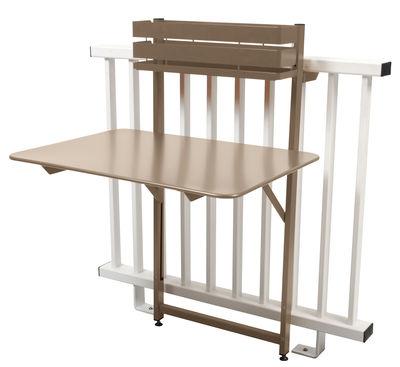 table pliante balcon bistro rabattable 77 x 64 cm muscade fermob. Black Bedroom Furniture Sets. Home Design Ideas