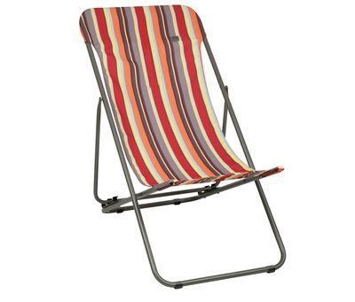 Chaise longue transatube pliable 3 positions hendaye - Chaises longues lafuma ...