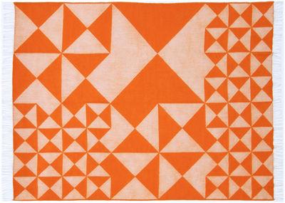 Déco - Textile - Plaid Mirror Throw / 130 x 190 cm - Panton 1969 - Verpan - Orange - Laine