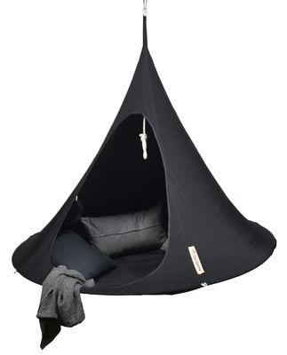 Jardin - Chaises longues et hamacs - Fauteuil suspendu / Tente - Ø 180 cm - 2 personnes - Cacoon - Noir - Toile