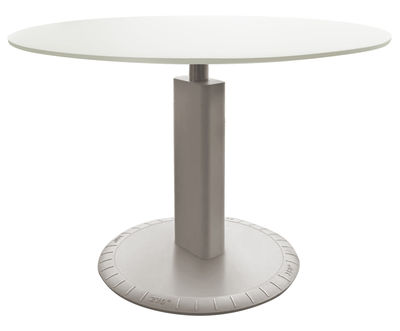 Furniture - High Tables - 360° Adjustable height table by Magis - Light grey - Aluminium, Cast iron, Varnished MDF