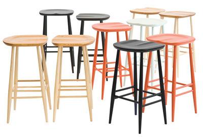 tabouret de bar bar stool bois h 65 cm r dition 1950 39 bois naturel ercol. Black Bedroom Furniture Sets. Home Design Ideas