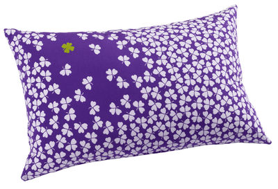 Jardin - Déco et accessoires - Coussin d'extérieur Trèfle / 68x44 cm - Fermob - Violet - Mousse, Tissu