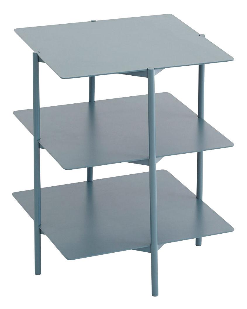 table d 39 appoint tier m tal 42 x 42 x h 54 cm bleu umbra shift. Black Bedroom Furniture Sets. Home Design Ideas
