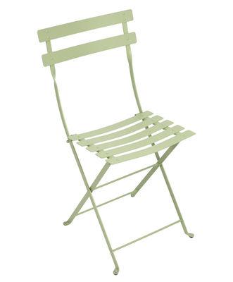 Chaise pliante Bistro Métal Fermob tilleul en métal
