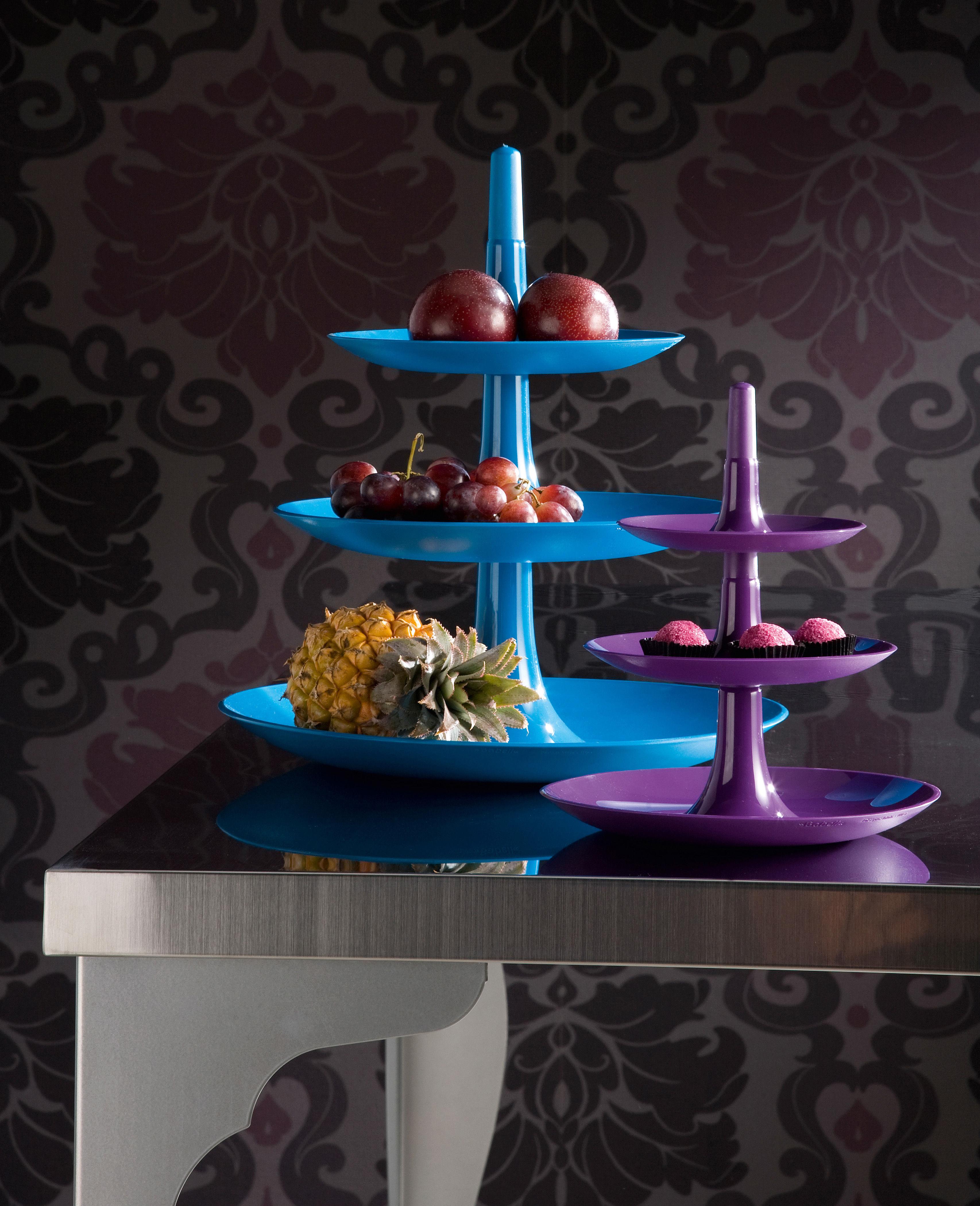 porte fruits babell 31 4 x h 34 cm prune koziol. Black Bedroom Furniture Sets. Home Design Ideas