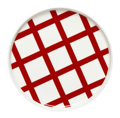 Assiette à dessert Spaljé / Ø 20 cm - Marimekko blanc,rouge en céramique