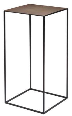 Tavolino basso Slim Irony / 31 x 31 x H 64 cm - Zeus - Ruggine,Nero ramato - Metallo