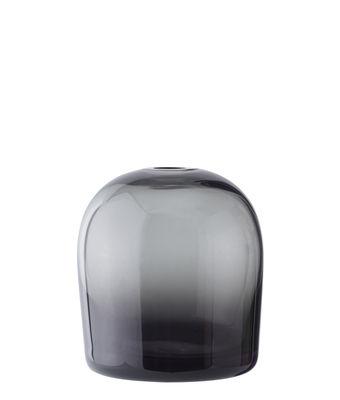 Déco - Vases - Vase Troll Small / Ø 9 x H 10 cm - Menu - Gris fumé - Verre soufflé