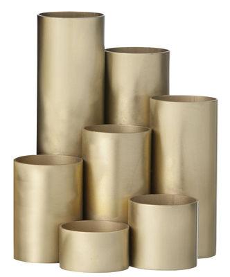 Pot à crayons Brass 7 pots assemblés Ferm Living laiton en métal